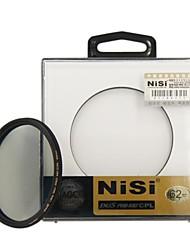 nisi® 62 milímetros pro mc cpl vários lente filtro polarizador circular revestido