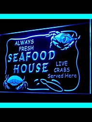 Seafood House Advertising LED Light Sign