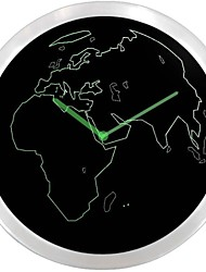 World Map Decor Neon Sign LED Wall Clock