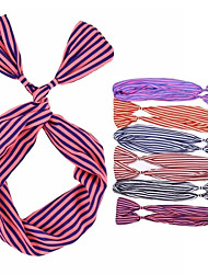 (1 pc) bandas para la cabeza de tela multicolor dulce para las mujeres (color al azar)