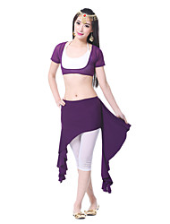 Belly Dance Skirts Women's Training Chiffon Satin Draped 1 Piece Skirt