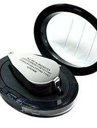zw9890 40x totalmente metálica de alta resolución de aumento microscopio lupa de cristal con detección currengy llevado