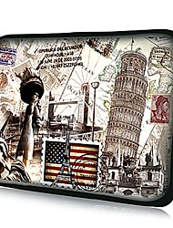 Elonno American Flag Neoprene Laptop Sleeve Case Bag Pouch Cover for 10'' Samsung Dell HP iPad1/2/3/4/5