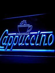 Cappuccino Café Bleu Vert Rouge Blanc Orange Violet Jaune Publicité LED Connexion