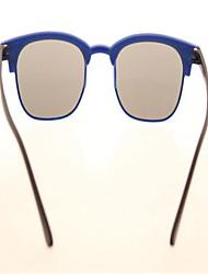 Cartoon Nail Small Lens Ultra Light PC Glasses Frame BlueSunglasses