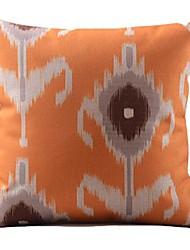 ikat taie d'oreiller décoratif d'orange