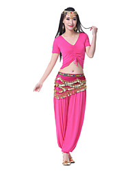 Performance Women's Mercerized Cotton Belly Dance Outfit-Including Belt,Top,Bottom(More Colors)