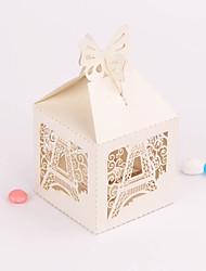 12 Piece/Set Favor Holder - Cubic Card Paper Favor Boxes Tower Pattern