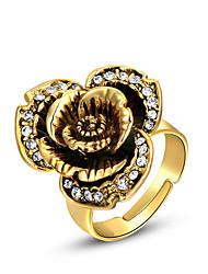 ROXI Western Style Österreich-Kristallgold 18K Rose Ring