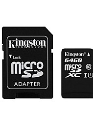 Kingston 64GB microSDXC Class 10 Flash-Speicherkarte mit SD-Adapter