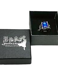 Kuroshitsuji Ciel Phantomhive кольцо с сапфиром Косплей Аксессуары