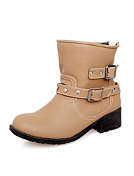 Women's Chunky Heel Motorcycle Boots With Buckle Shoes (More colors)