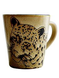 """Cerâmica 250ml inovador padrão Mini Leopard Cup, 3.3 """"X2.2"""" x2.6 """""""