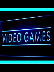 Video Games Advertising LED Light Sign