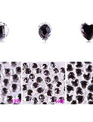 yemannvyou®10pcs alto grau de base plana strass Decorações Nail Art no.13-15 (cores sortidas)