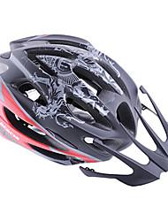 eps acacia + pc negro rojo integralmente moldeado del casco en bicicleta (57-61cm)