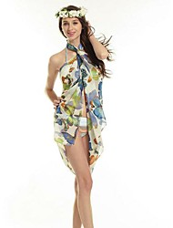 Women's Colorful Butterfly Beach Wrapped Body Veil Clothing