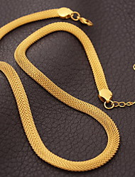 U7® Unisex 18K Chunky Gold Filled Choker Necklace Gold Plated Popcorn Chains For Men Women 5MM 50CM