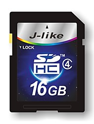 J-Like 16GB Clase 4 SD/SDHC/SDXCMax Read Speed4 (MB/S)Max Write Speed4 (MB/S)