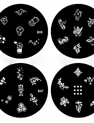 1PCS Nail Art Stamp Stamping Image Template Plate B Series NO.5-8(Assorted Pattern)