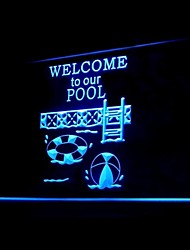Welcome Pool Advertising LED Light Sign