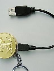 2014 Année de cheval des pièces de style USB rechargeable allume-cigare d'or