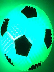 fútbol luminiscencia flash pelota comodo llevó luz de noche (color al azar)