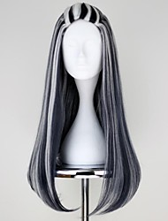 Monster High Frankie Stein Long Straight Navy and White Anime Cosplay Wig