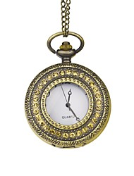 Groom Bronze Rhinestone-Encrusted Vintage Pocket Watch With Gift Box