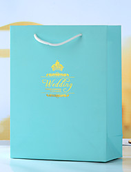 Wedding Style Ivory Board Favor Bags - Set of 12