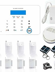 Dual Network Touch Screen Home Alarm Sytem Support IOS&Android APP