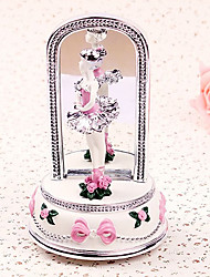 Delicate Dancing Ballerina Music Box with Mirror