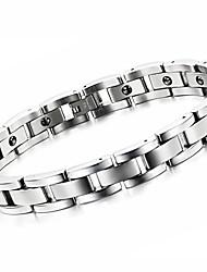 calcul biliaire noir anti-fatigue exquis bracelet homme en acier de titane de soins