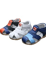 Leather Children' Flat Heel Comfort Sandals with Magic Tape Shoes(More Colors)