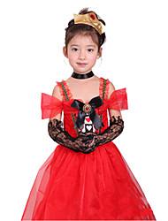 Begeisterte Spanish Lady Red Polyester Kinder-Halloween-Kostüm