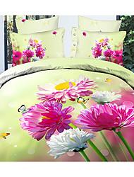 Ailianna 4 Piece 3D Spring Floral Print Duvet Set