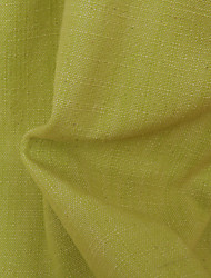 """Modern Yellow Solid Linen/Polyester Blend Jacquard Fabric (Fabric Weight-Heavy) - Width=55"""" (140 cm)"""