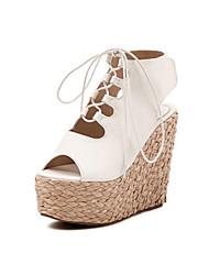 IPIEN Slipsole Peep-Toe Sandal (White)