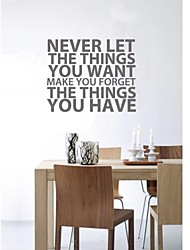 JiuBai™  Word Quote Art Wall Sticker Wall Decal