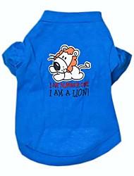 Cani T-shirt Blu Abbigliamento per cani Primavera/Autunno Lettere & Numeri Cosplay / Matrimonio