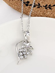 Women's New Arrival Gold Plated Lovely Flower Design Zircon Necklace