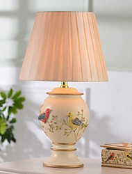 HOSHINE® Birds & Flowers Vase Table Lamp 1 Light Novelty Modern Beige Yellow Resin