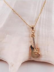 moda feminina (forma de violino pingente) liga de ródio ouro pingente banhado
