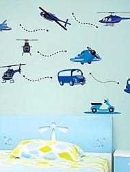 ® hélicoptère de bande dessinée Voitures Enfants de pièce de crèche Wall Sticker Stickers muraux Art Createforlife