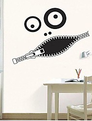 Createforlife® Funny Zipper Mouth Kids Nursery Room Wall Sticker Wall Art Decals
