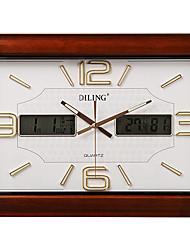 """21 """"mute lcd horloge murale moderne avec calendrier et la température et l'humidité"""