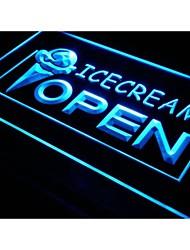 i015 Open Ice-cream Icecream Ice cream Neon Light Sign