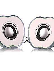 Pair New Apple Shape Mini Speaker with LED