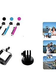 Handheld Self-Timer Monopod with Adapter and Phone Holder for GoPro Hero1/ 2/3/3+ and Cellphone