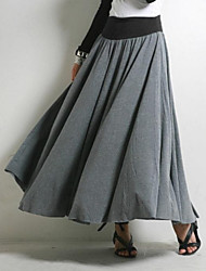 Women's Modal Cotton Pleated Casual Long Skirt